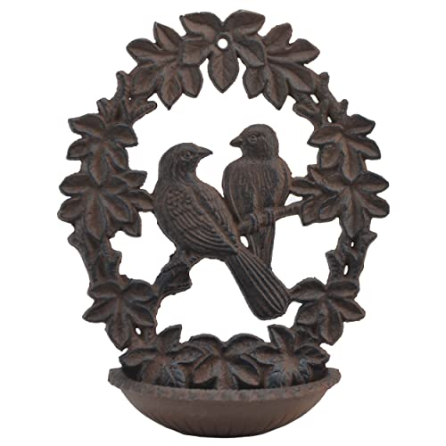 Buy Import Wholesales Decorative Cast Iron Wall Mount Bird Feeder Mountable Bath 9 75 Long Online In Kuwait B07c533f1n