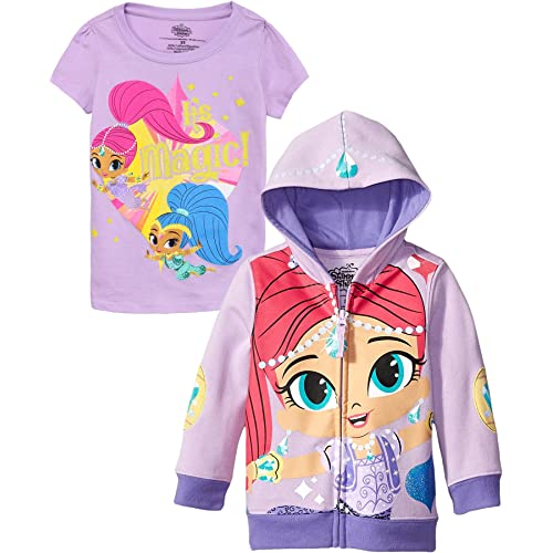 MITSMEH Divine Twin Sisters Shimmer /& Shine Girls Hooded Sweat Shirt