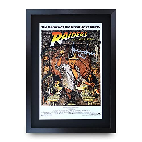 HWC Trading FR Harrison Ford Gift Signed FRAMED A4 Printed Autograph Star Wars Gifts Print Photo Picture Display
