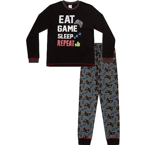 the pyjama factory Do Not Disturb Gaming Mode Activated Woven Long Pyjamas