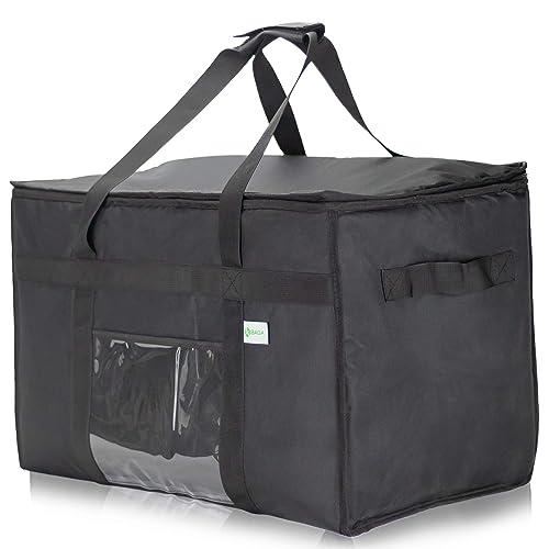 Buy حقيبة توصيل الطعام المعزولة Kibaga التجارية Xxl 23 14 15 بوصة حقيبة توصيل مضادة للماء لتسليم الطعام الساخن حقيبة أدفأ الطعام الممتازة لأكل Uber وتوصيل الطعام Doordash Online In Kuwait B07jk5vm37