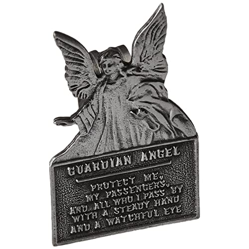 2 3//4 Inch Fine Pewter Grandaughter Drive Safely Guardian Angel Heart Visor Clip