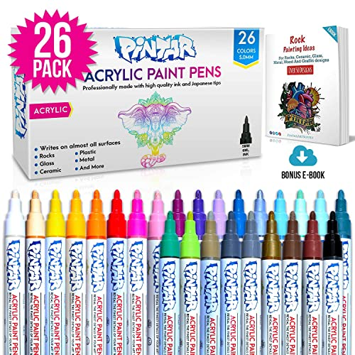 Acrylic Paint Markers For Rock Painting Stone Ceramic Glass Wood Works On Most Surfaces Water Based Vibrant Colors Water Resistant Office