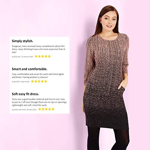 Roman Originals Women Slouch Dress Ladies Smart Casual Daywear Day Outfit Work Office Short Sleeve Knee Length Soft Jersey Outfits Dresses