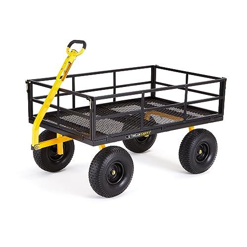 4e0357cdb8d9 Buy Gorilla Carts GOR1400-COM Heavy-Duty Steel Utility Cart with ...