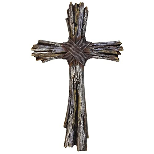 Buy Deleon Collections Rustic Decorative Driftwood Wall Cross Faux Weathered Wood Rugged Jesus Art Online In Kuwait B07kbb9hnv