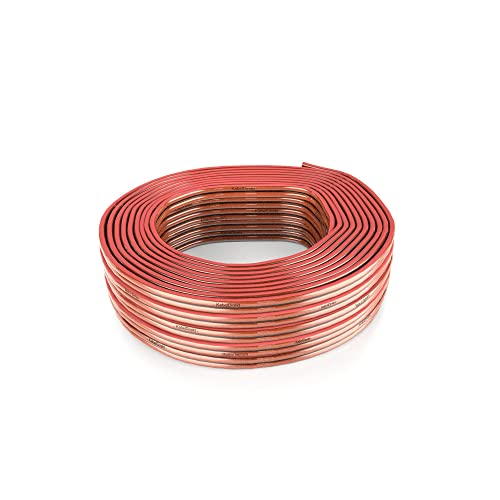 99.9/% Purity Copper Wiring and Polarity Markings Oxygen-Free 100 feet 14 Gauge Audio Wire Speaker Cable KabelDirekt AWG 14 Speaker Wire for Audiophiles and HiFi Systems