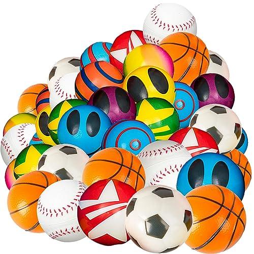 PINATA PARTY FAVORS GOODY BAGS GIFTS CARNIVALS 48 STRETCHY KNOBBY YO YO BALLS