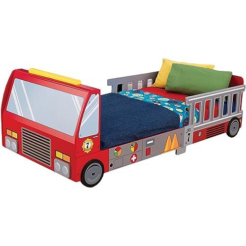 Enjoyable Buy Kidkraft Fire Truck Toddler Bed With Ubuy Kuwait B0006Ni4Eu Bralicious Painted Fabric Chair Ideas Braliciousco