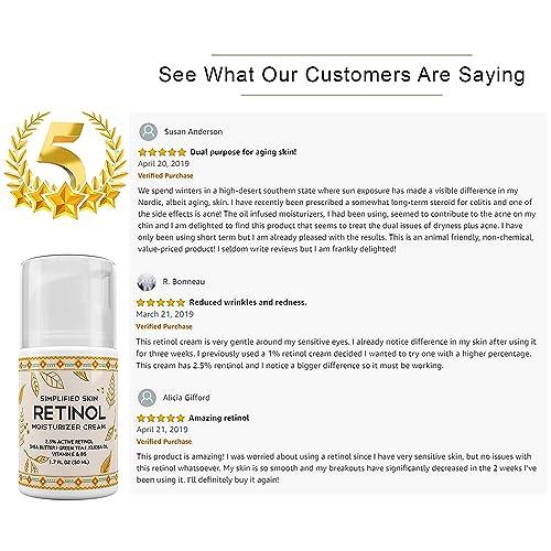 Buy Retinol Moisturizer Cream 2 5% for Face & Eye Area with