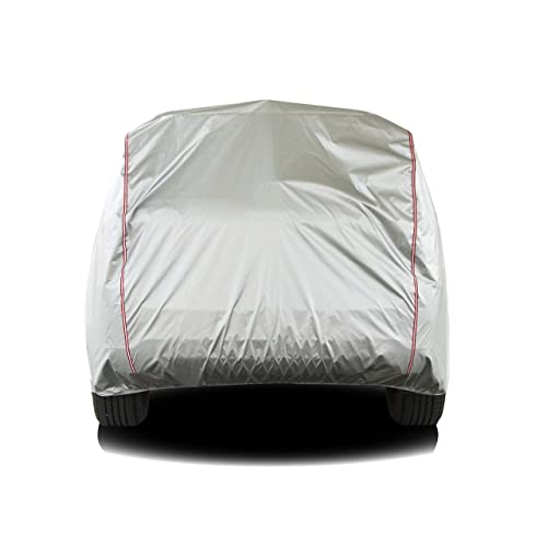 Tecoom Hard Shell Zipper Design Waterproof UV-Proof Windproof Car Cover for All Weather Indoor Outdoor Fit 221-236 inches Full-Size SUV