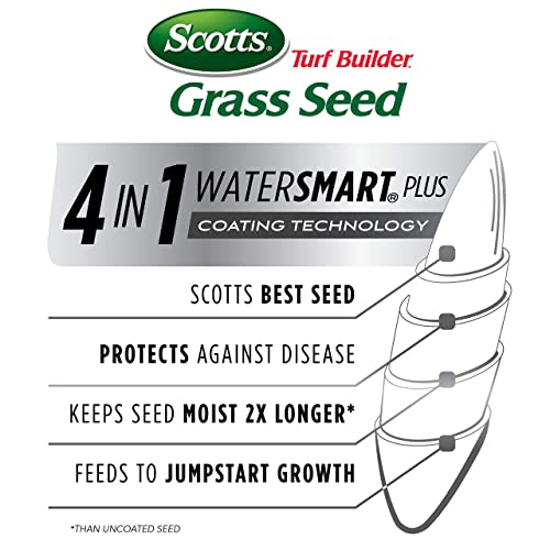 Scotts Turf Builder Grass Seed Sun /& Shade Mix Spreads /& Thickens For A Durable Lawn 7 Lb ft.  Not Available in Louisiana Seeds Up to 2,800 sq   Grows In Full Sun /& Dense Shade