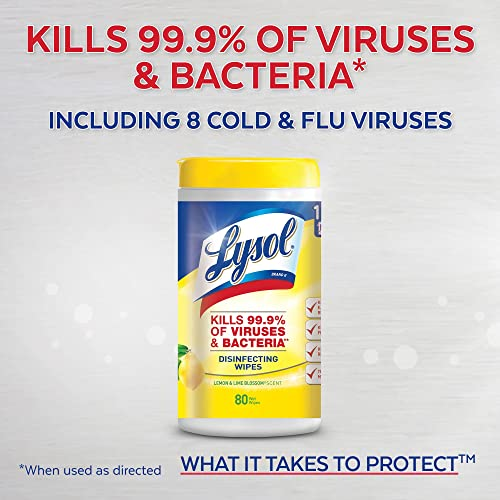 Lysol 19200788496 Disinfecting Wipes 660ct 6X110ct Lemon /& Lime Blossom Packaging May Vary