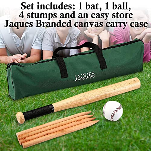 NEW Traditional Family Garden Games Wooden ROUNDERS Bat Ball Posts Carry Bag