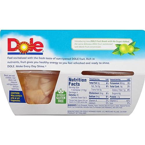 Buy DOLE FRUIT BOWLS No Sugar Added