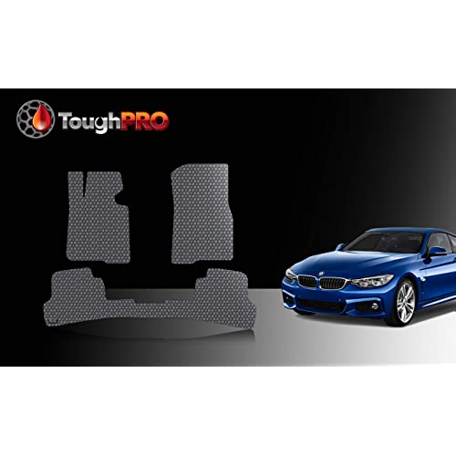 TOUGHPRO Floor Mat Accessories Set Compatible with BMW 7 Series 2017 Heavy Duty - 2020 All Weather 2016 2019 Made in USA 2018 Front Row + 2nd Row - Black Rubber