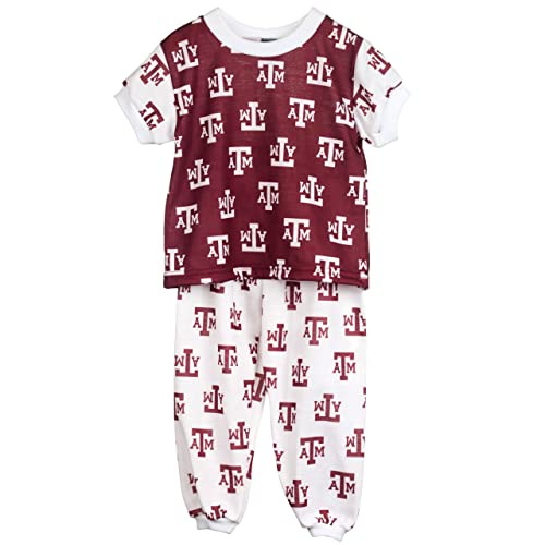 Size 7 Texas A/&M University Aggies Little Boys Short Sleeve 2-Piece Pajama Set