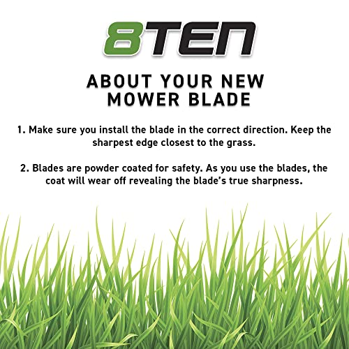 8TEN Blade MTD Cub Cadet 942-0677 742-0677 RZT S54 Toro 112-0931 Mulching 6 Pack