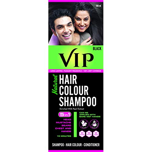 Vcare Vip Natural Hair Colour Shampoo Black 3 In 1 Shampoo Hair Colour Conditioner 180ml Buy Products Online With Ubuy Kuwait In Affordable Prices B0797tvjq8