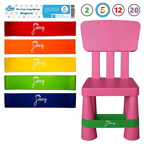 Cool Buy Feety Chair Bands For Kids 5 Pack Adhd Bouncy Kick Short Links Chair Design For Home Short Linksinfo