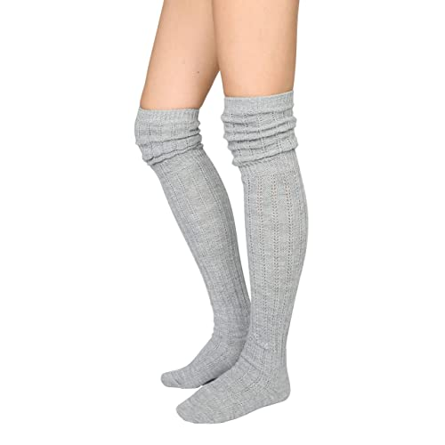 STYLEGAGA Women/'s Over The Knee High Boot Socks