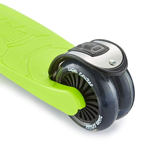 Perfect For Children Aged 5+ Adjustable Handlebar Zoom Cruzer Kids 3 Wheel Push Kick Scooter LED Light Up Wheels Super Strong Foldable Design