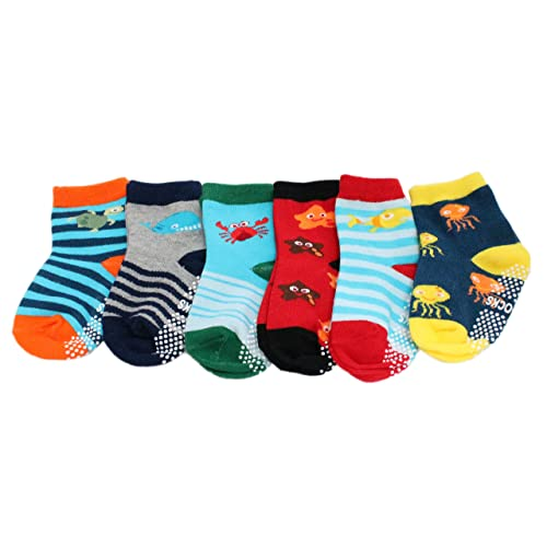 2 Pairs Kids Boys Assorted Socks Animal Bear Striped Cotton Rich Size 3-5½ New