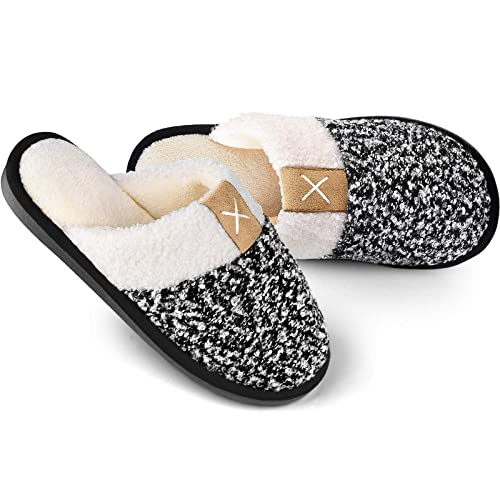 dd41244020a0d Buy Women's Cozy Durable Slippers,Fuzzy Wool-Like Plush Fleece Lined ...