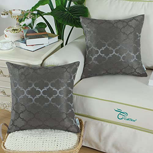 Throw Pillows Cases Shells Cushion Cover Sofa Vintage Damask Floral 18x18 Inches