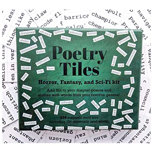 Poetry Tiles Fantasy SciFi Themed Fridge Word Magnets for Poems 660 Horror