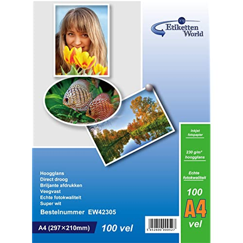 Colour Direct 50 Sheets MAXI 5X7 inches Glossy 230gsm Photo paper Work With All Inkjet Printers