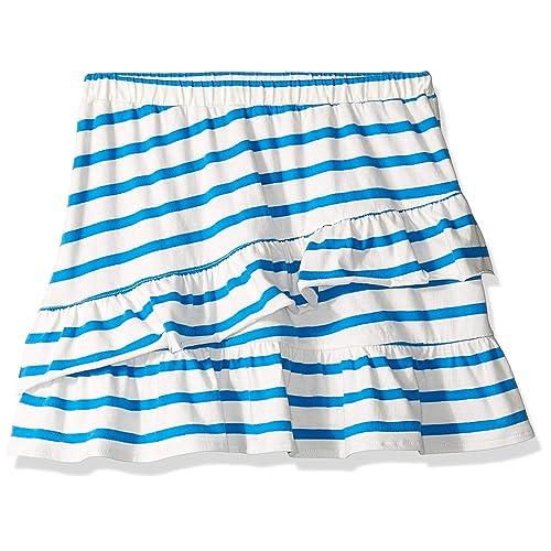 Munki Munki Girls Big Smocked Waist Gingham Skirt