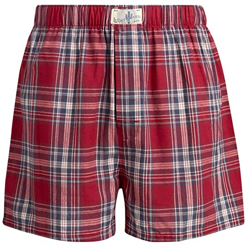 Mens Woven Cotton Classic Boxer Underwear with Functional Fly