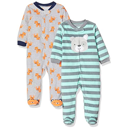 Gyratedream Jumpsuits Baby Striped Cartoon Printing Long Sleeve Rompers Kids Bodysuits 0-2Y