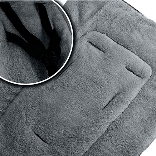 Dark Grey Inner Weatherproof Universal Fleece Footmuff Dark Grey Outer