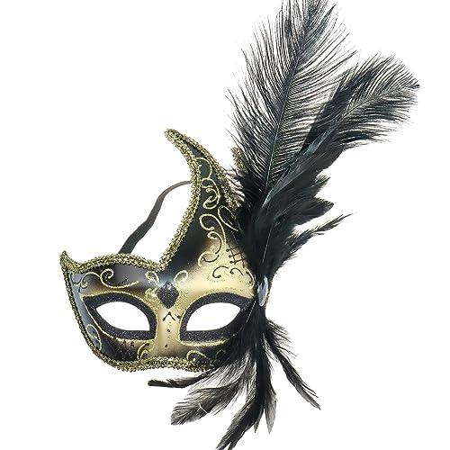 Masquerade Ball Fancy Dress Eye Mask Prom Eyemask White Columbina by Smiffys