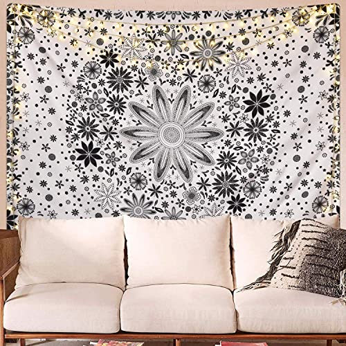Buy Likiyol Bohemian Tapestry Dotted Daisy Medallion Tapestry Flower Leaves Mandala Tapestry Sketched Boho Art Tapestry For Room 59 1 X 82 7 Inches Online In Kuwait B081zz27h5