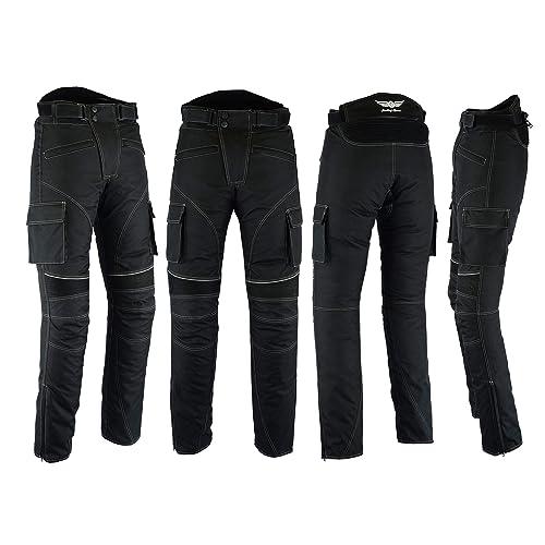 Women Motorcycle//Motorbike Big Pocket Waterproof Removable Cordura Textile Trouser Pant for Mens Boys Blue XL