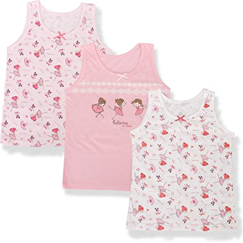 benetia Girls Soft Cotton Undershirts 3-Pack