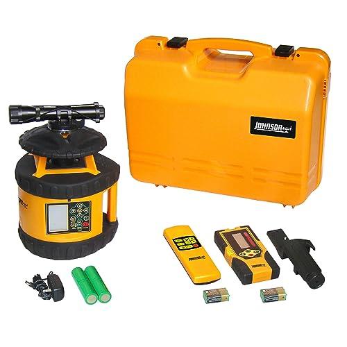 Johnson Level /& Tool 40-6582 Electronic Self-Leveling Digital Dual Grade Horizontal /& Vertical Rotary Laser Kit