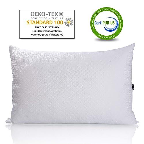 Queen Breeze Adjustable Down Alternative Hypoallergenic Pillows for Sleeping