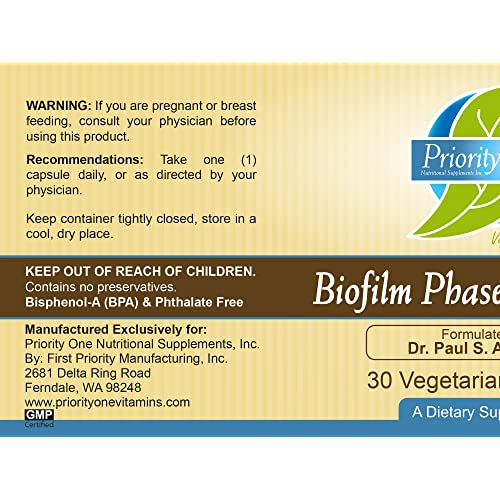 Buy Priority One Vitamins Biofilm Phase-2 Advanced 30