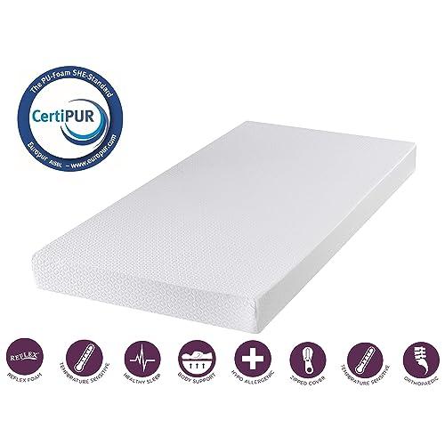 Memory Foam Mattress Topper 3FT Single 90cm x 190cm 1 Inch Depth