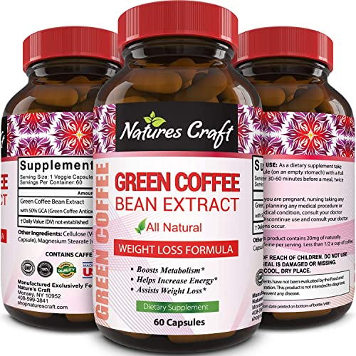 100 Pure Green Coffee Bean Extract Highest Quality 800 Mg