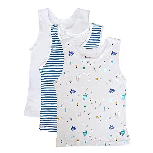 benetia Boys Girls Cotton Tank Undershirts 3-Pack