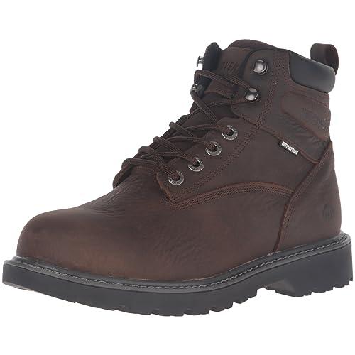 3bfa3b9260b Buy Wolverine Men's Floorhand 6 Inch Waterproof Steel Toe Work Shoe ...