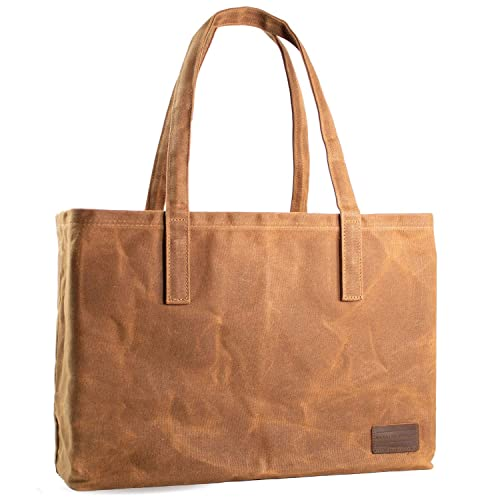 2825ffec5f54 Buy Hawkins Hill Reusable Tote Bag, Waxed Canvas, Grocery Shopping ...