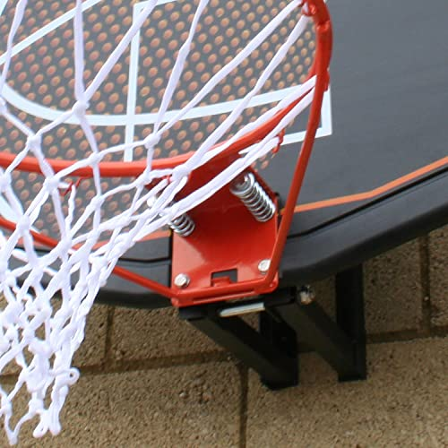 BEE-BALL ZY-015 Basketball Hoop with Full Size Backboard and Net for Outdoor Use Includes Wall Mounting Bracket and Fixing Kit