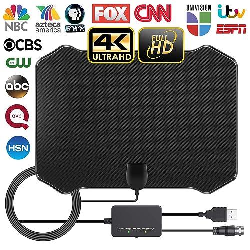 2019 Newest Indoor Digital TV Antenna 120 Miles Range with HDTV Antenna