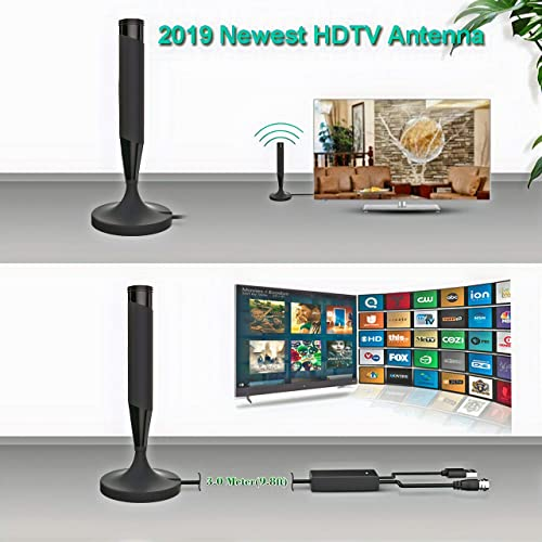 2020 Updated Amplified HD Digital TV Antenna HDTV Antennas High Definition 1080P 4K for Digital TV//Old TV 50-150 Miles Long Range Indoor Signal Amplifier Booster with 16.4ft Coax Cable//AC Adapter